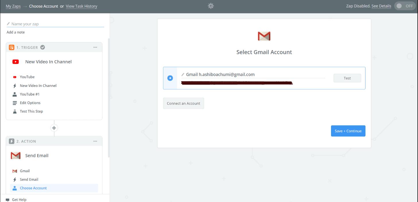 zapier - addding email