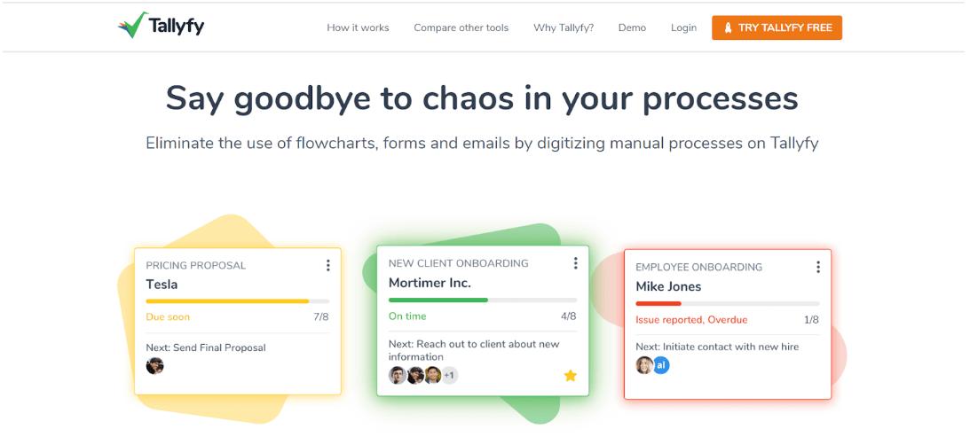 Tallyfy - workflow automation tool