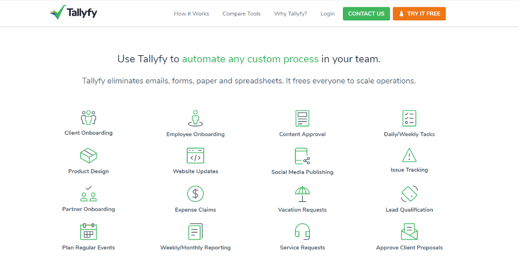 Tallyfy as robotic process automation orchestration tool