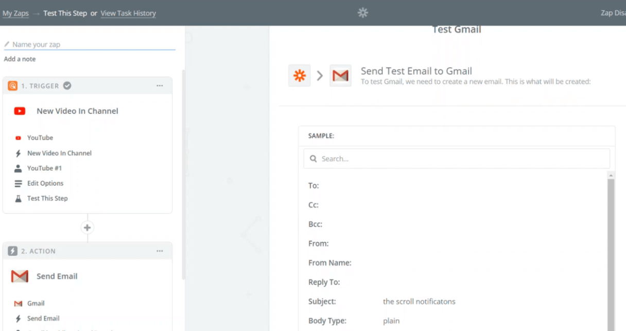 what is zapier - gmail email body
