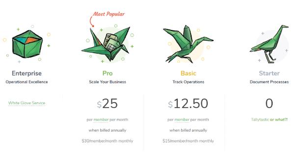 tallyfy pricing model