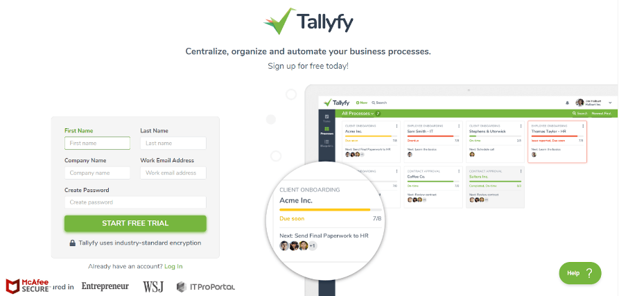 tallyfy bpm and workflow sofware