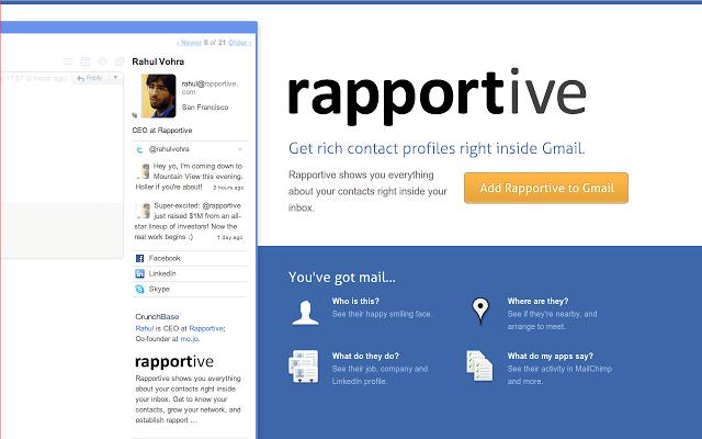 Rapportive Screenshot