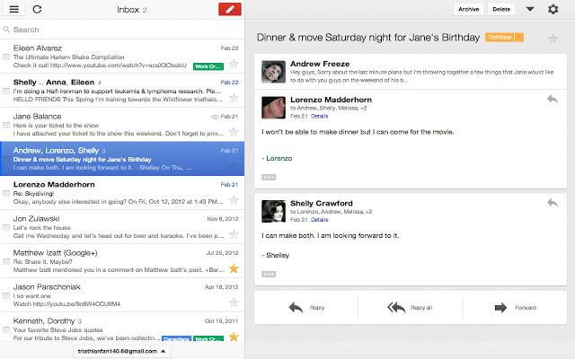 Gmail Offline Screenshot