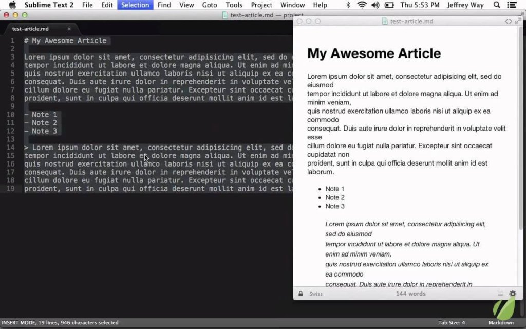 sublime text software documentation tool