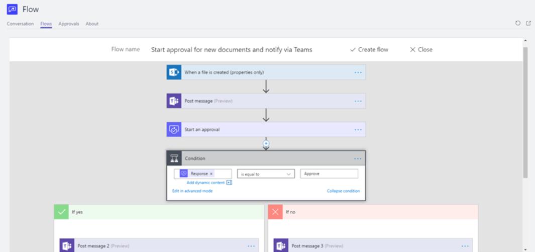 Microsoft flow example