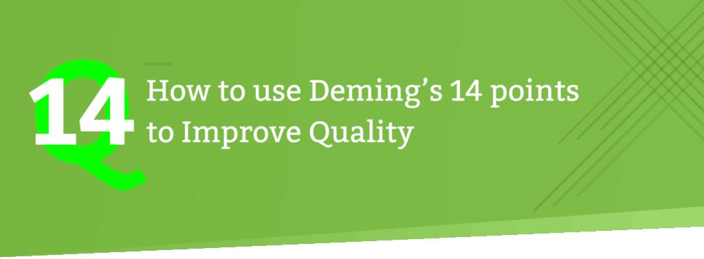Deming's 14 points header