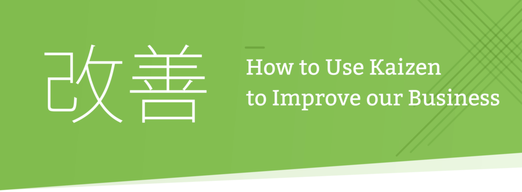 Kaizen process improvement header