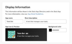 Slack Bot Details