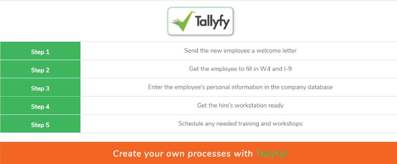 tallyfy workflow example
