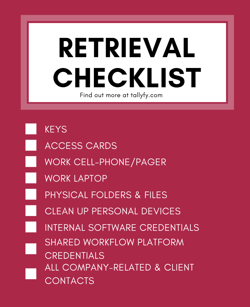 employee offboarding retrieval checklist