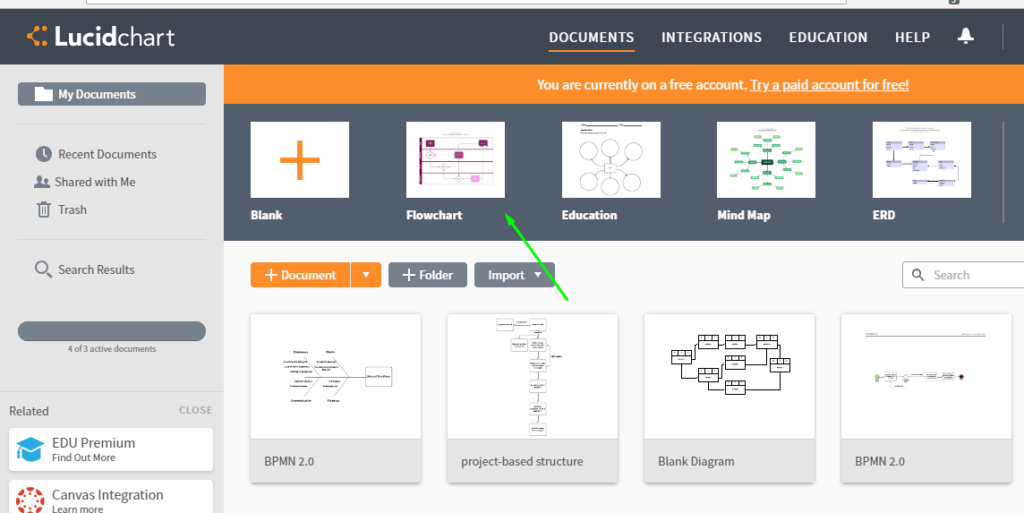 lucidcharts create flowchart