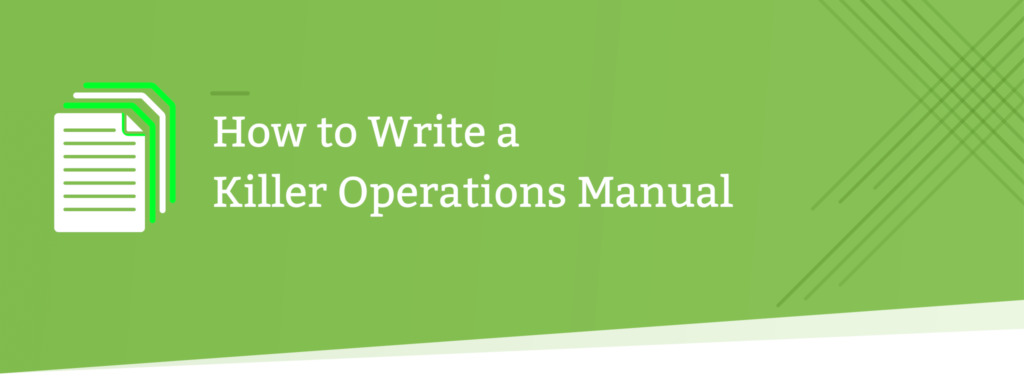 how to write an operations manual header image