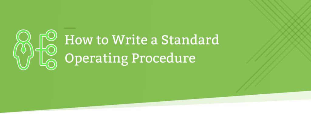 how to write a standard operating procedure header